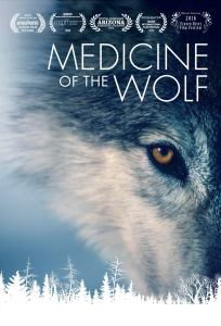 Medicine of the Wolf poster photograph by Jim Brandenburg with artwork by Rachael Howard